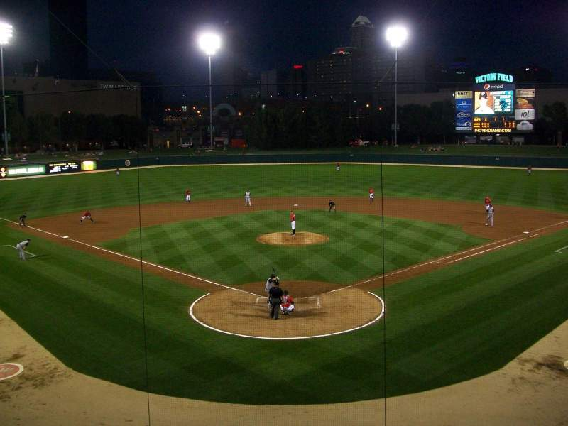 Seating view for Victory Field Section 210 Row B Seat 9