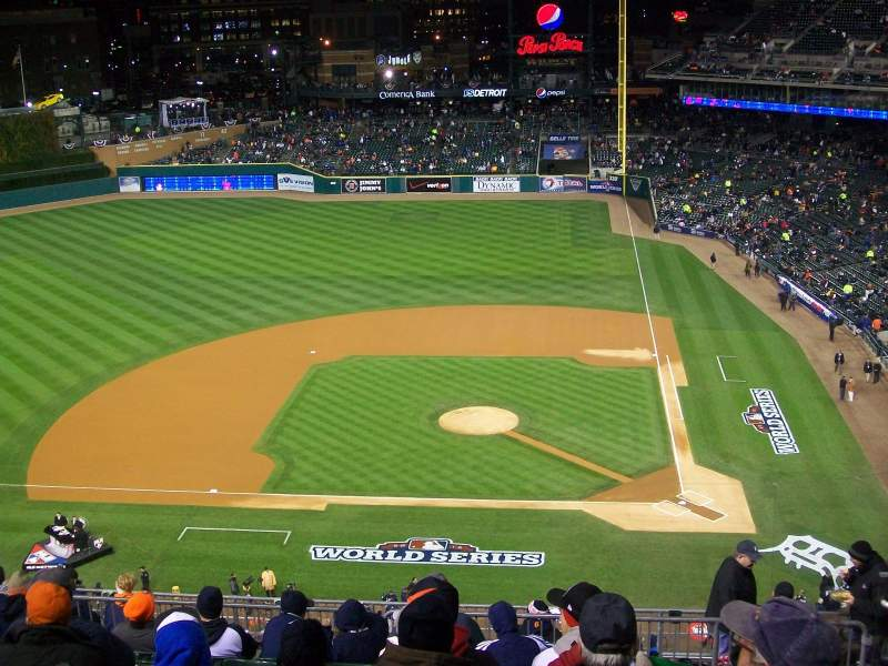 Seating view for Comerica Park Section 332 Row 10 Seat 9