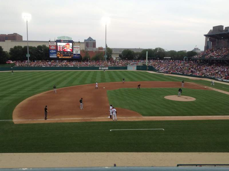 Seating view for Victory Field Section 205 Row A Seat 8