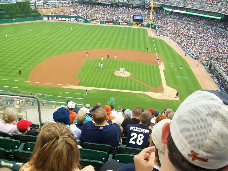 Seating view for Comerica Park Section 332 Row 11 Seat 17