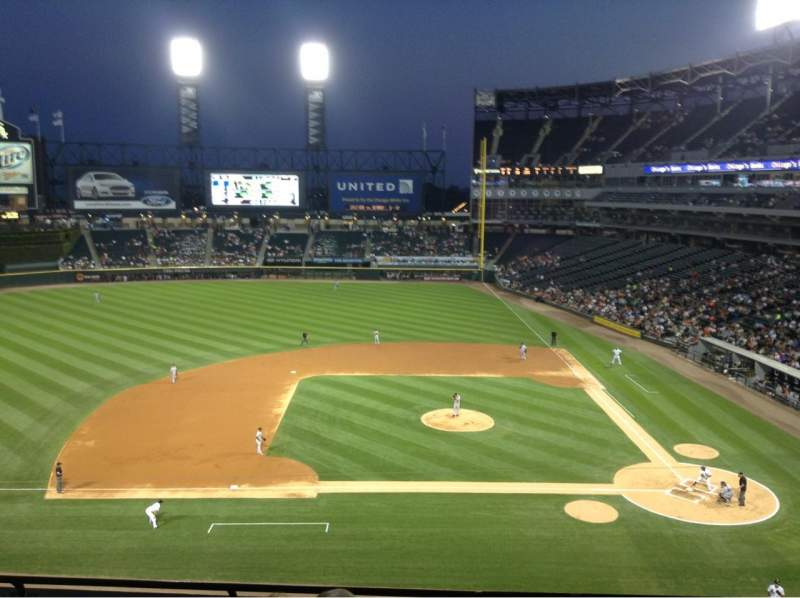 Seating view for Guaranteed Rate Field Section 338 Row 5 Seat 11