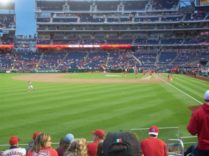 Seating view for Nationals Park Section 105 Row K Seat 5
