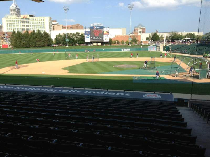 Seating view for Victory Field Section 109 Row V Seat 5
