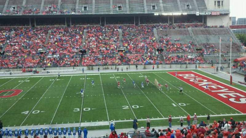 Seating view for Ohio Stadium Section Club 5 Row 28 Seat 9