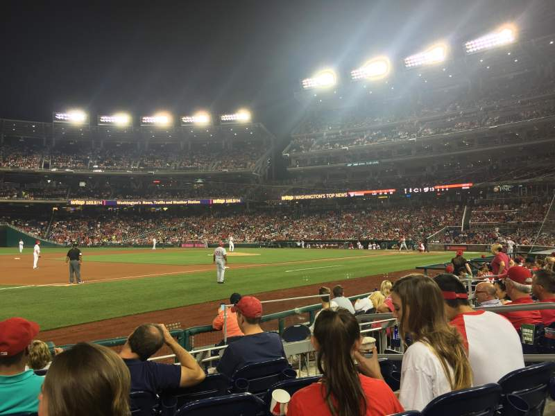Seating view for Nationals Park Section 113 Row H Seat 5