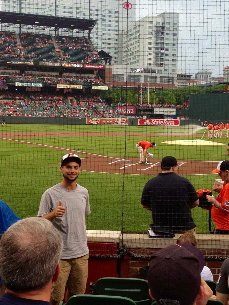 Seating view for Oriole Park at Camden Yards Section 34 Row 6 Seat 13