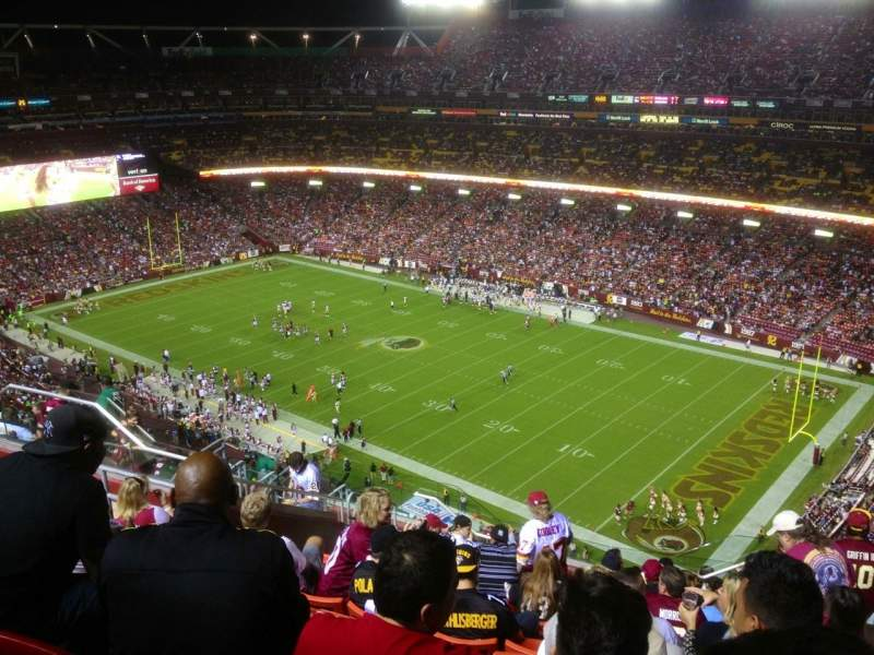 Seating view for FedEx Field Section 449 Row 14 Seat 7