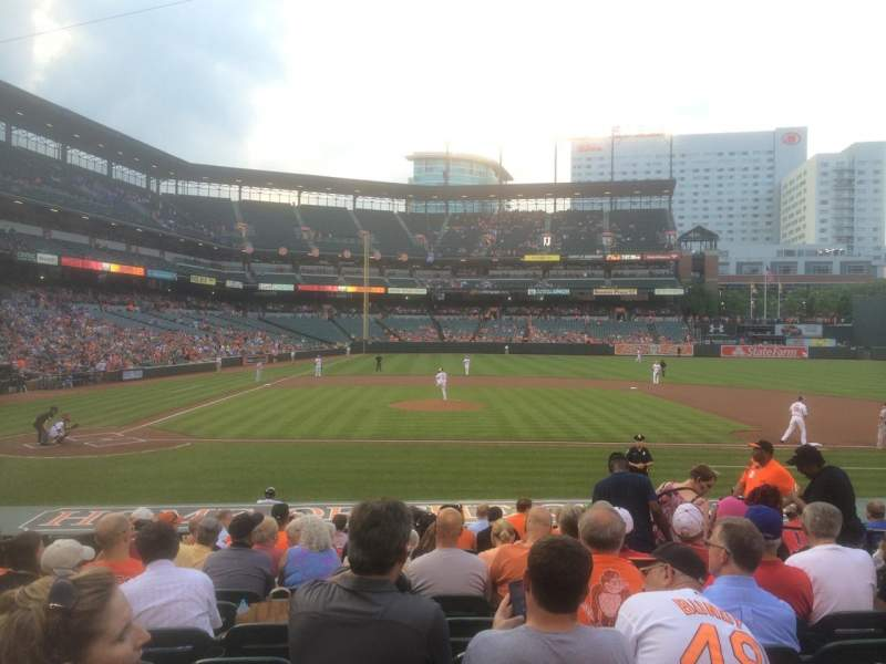 Seating view for Oriole Park at Camden Yards Section 24 Row 13 Seat 8