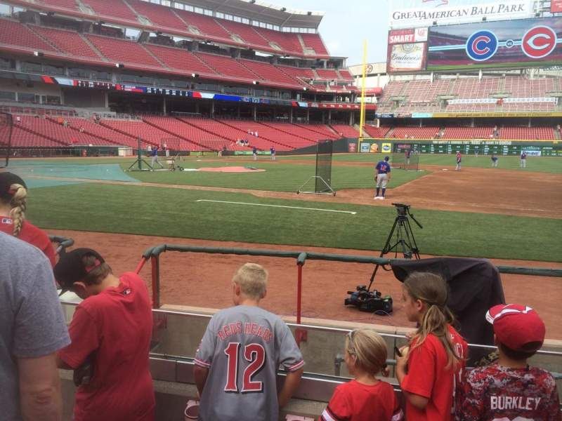 Seating view for Great American Ball Park Section 131 Row H Seat 11