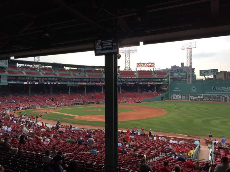 Seating view for Fenway Park Section Grandstand 10 Row 10 Seat 13