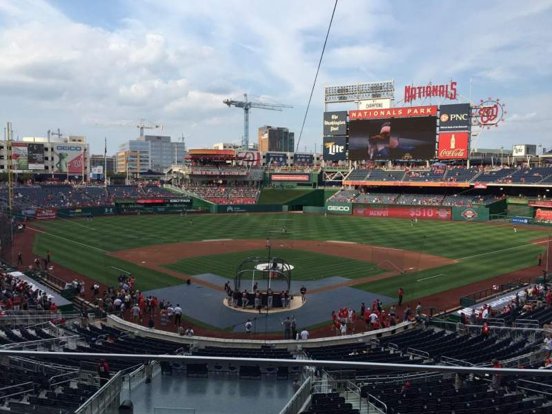 Seating view for Nationals Park Section 214 Row B Seat 10