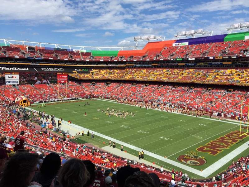 Seating view for FedEx Field Section 337 Row 14 Seat 10