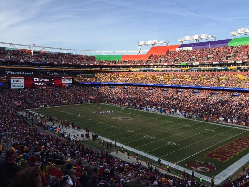 Seating view for FedEx Field Section 337 Row 14 Seat 14