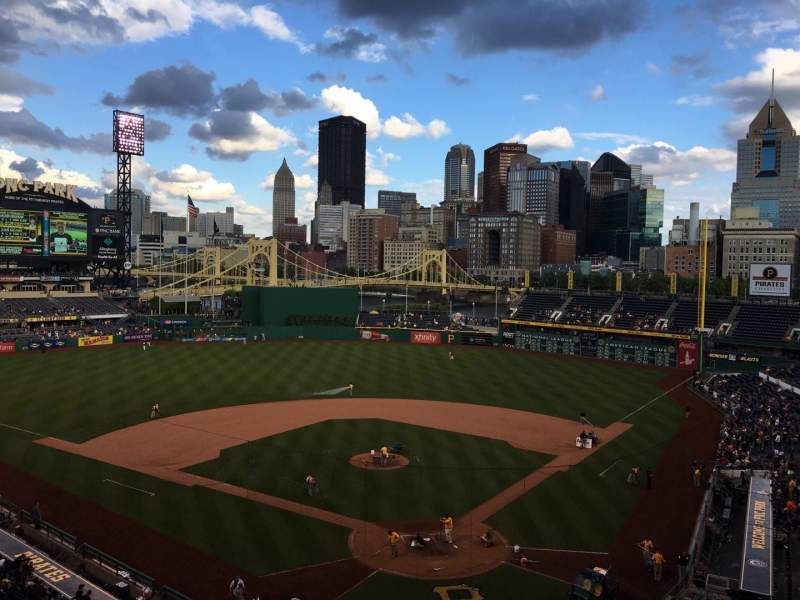 Seating view for PNC Park Section 217 Row B Seat 5