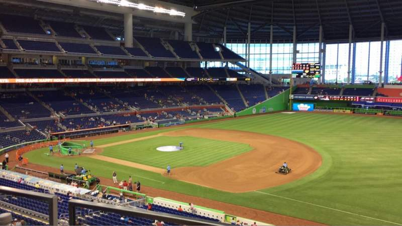 Marlins Park, section: 206, row: 1, seat: 9