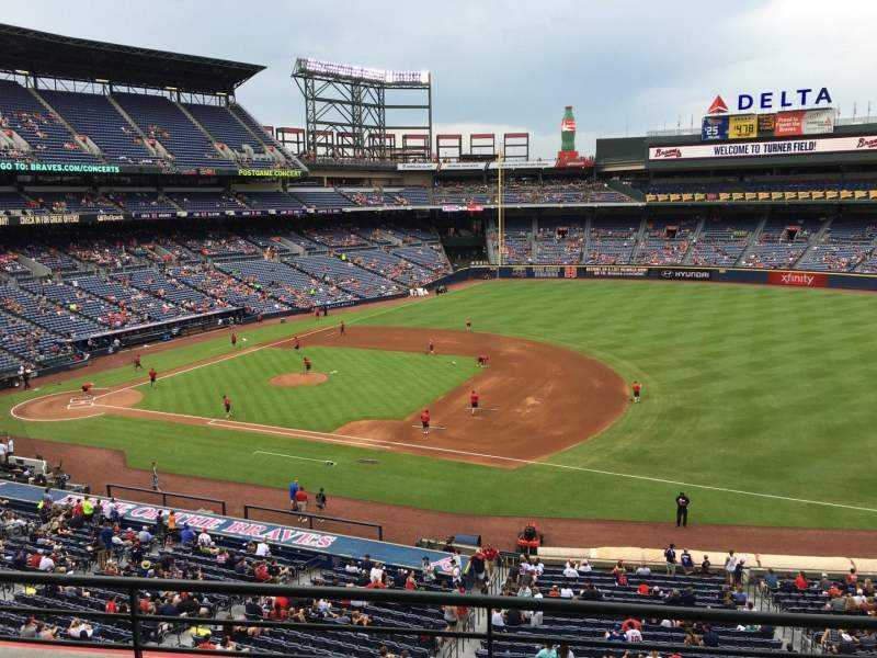 Seating view for Turner Field Section 315R Row 3 Seat 8