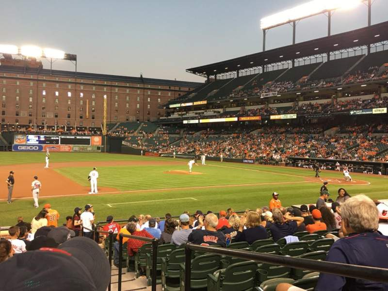 Seating view for Oriole Park at Camden Yards Section 56 Row 16 Seat 1