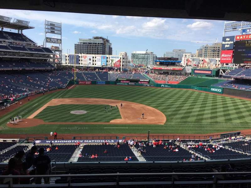 Seating view for Nationals Park Section Lincoln Suite 27 Row Suite Seat 16
