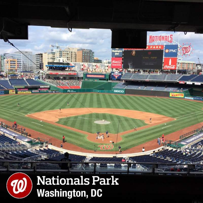 Seating view for Nationals Park Section Lincoln Suite 20 Row STAND Seat PASS