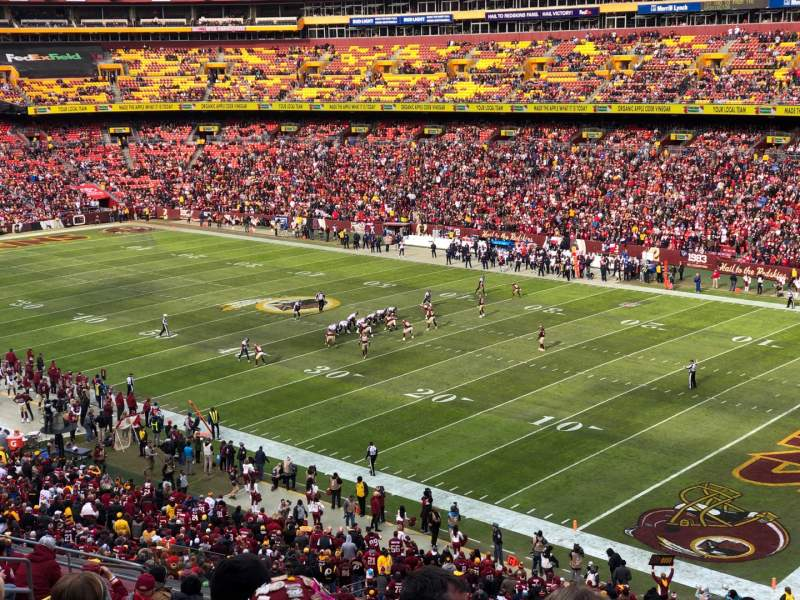 Seating view for FedEx Field Section 337 Row 14 Seat 15