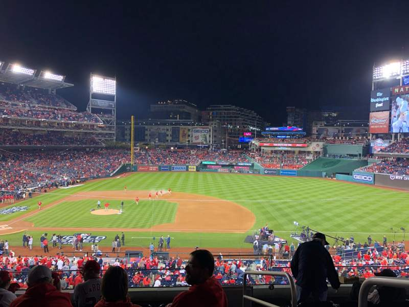 Seating view for Nationals Park Section 219 Row F Seat 1