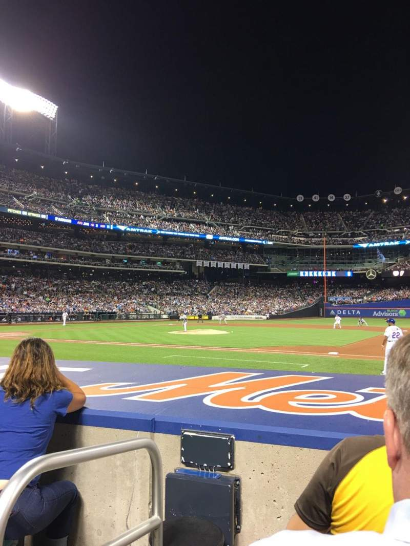 Seating view for Citi Field Section 112 Row 3 Seat 1