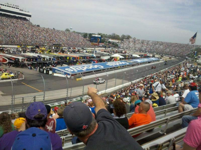 Seating view for Martinsville Speedway Section Clary Earles Tower MM Row 29 Seat 19