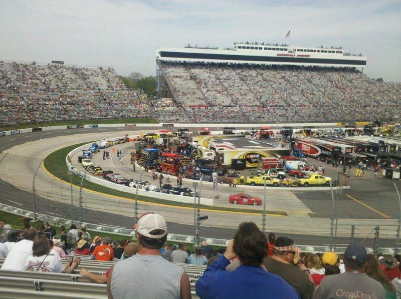 Seating view for Martinsville Speedway Section Clary Earles Tower MM Row 29 Seat 20
