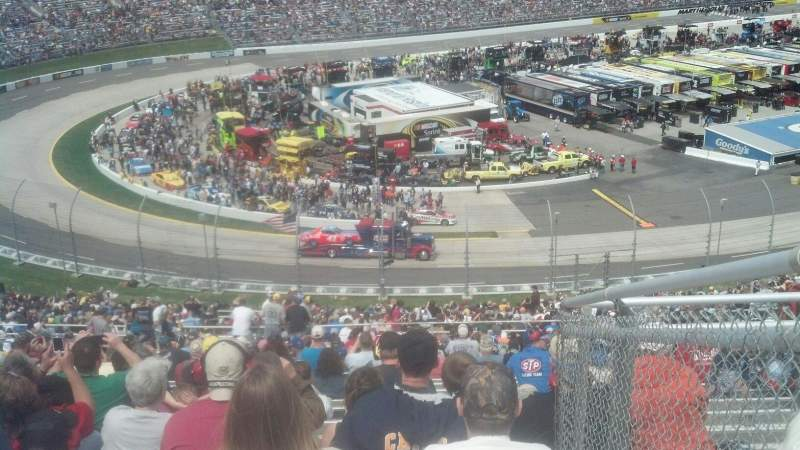 Seating view for Martinsville Speedway Section Clary Earles Tower MM Row 50 Seat 1