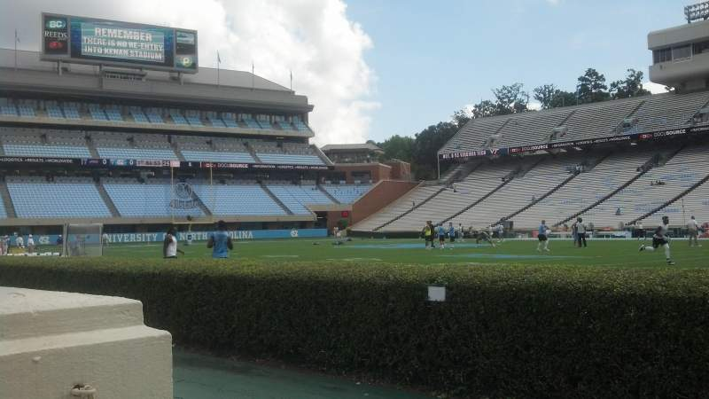 Seating view for Kenan Memorial Stadium Section 111 Row A Seat 23