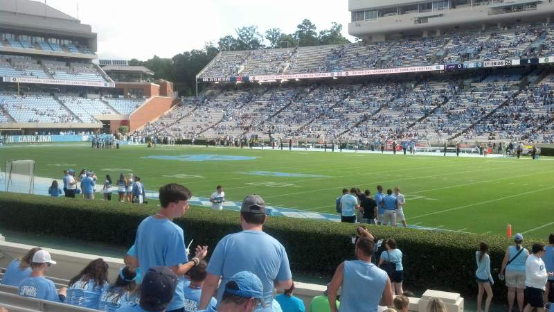 Seating view for Kenan Memorial Stadium Section 111 Row L Seat 23