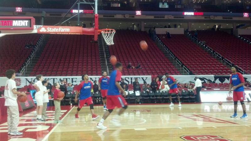 PNC Arena, section: Courtside, row: A, seat: 41