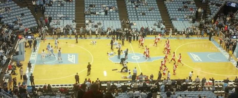 Seating view for Dean Dome Section 207 Row V Seat 1