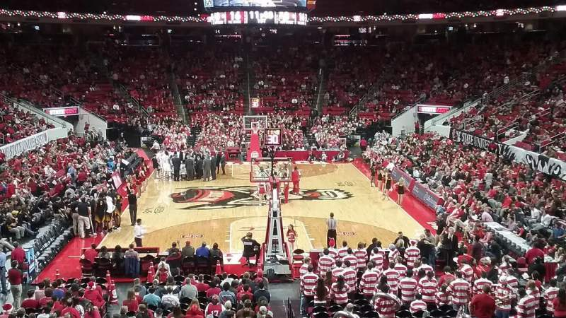Seating view for PNC Arena Section 112 Row X Seat 2