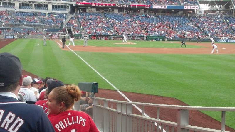 Seating view for Nationals Park Section 136 Row D Seat 5