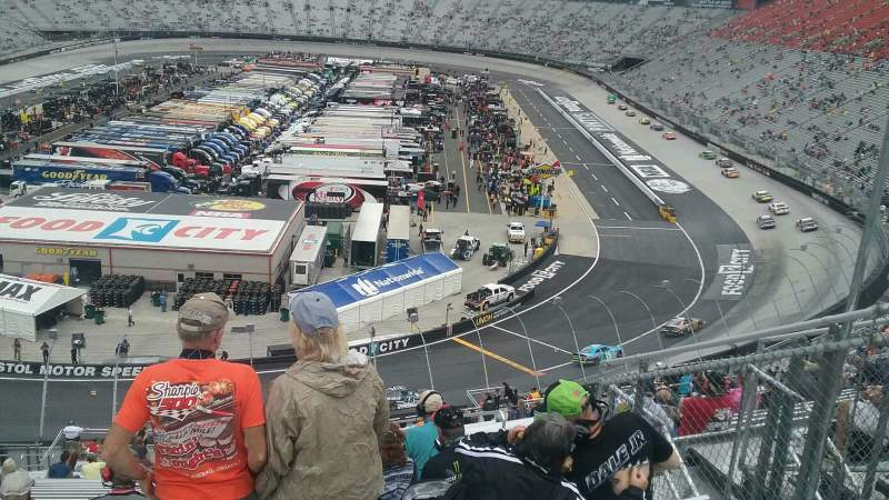 Seating view for Bristol Motor Speedway Section Kulwicki K Row 38 Seat 7
