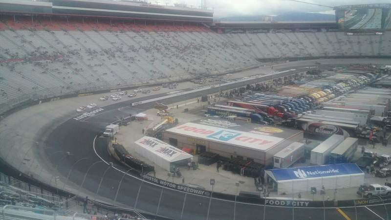 Seating view for Bristol Motor Speedway Section Kulwicki I Row 36 Seat 10