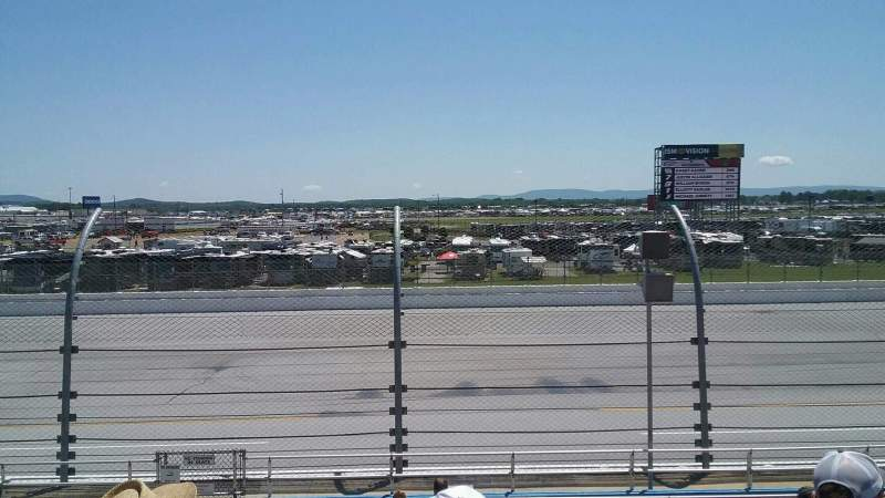 Seating view for Talladega Superspeedway Section Gadsden E Row 20 Seat 17