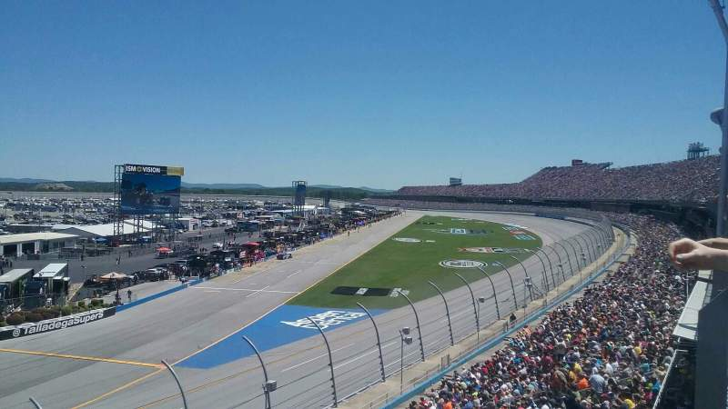 Seating view for Talladega Superspeedway Section Anniston Tower E Row 26 Seat 21