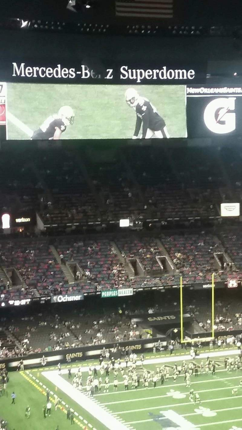 Seating view for Mercedes-Benz Superdome Section 607 Row 20 Seat 17