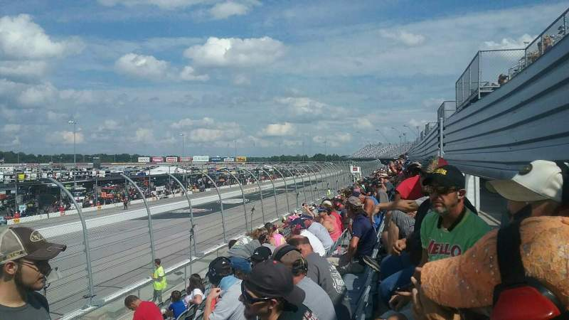Seating view for Darlington Raceway Section Wallace T Row 15 Seat 25
