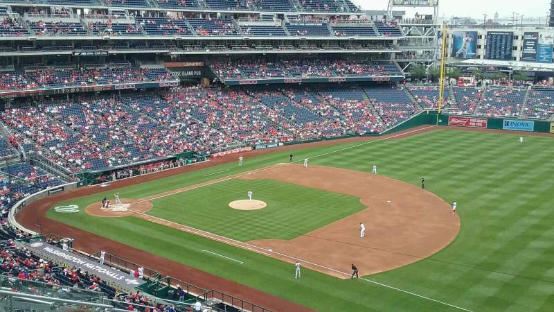 Seating view for Nationals Park Section 222 Row N Seat 12
