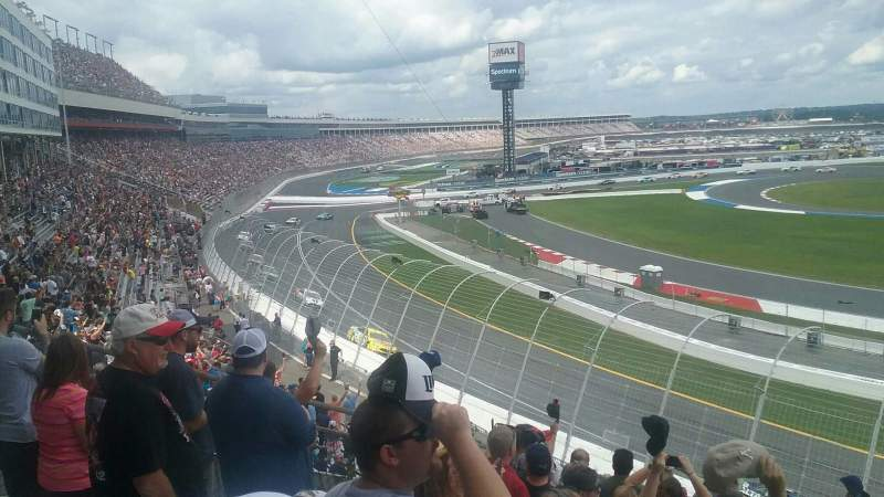 Seating view for Charlotte Motor Speedway Section GN DD Row 18 Seat 15