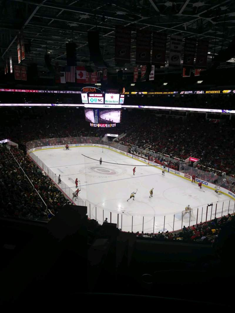 Seating view for PNC Arena Section 214 Row E Seat 12