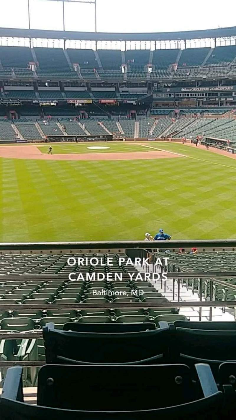 Seating view for Oriole Park at Camden Yards Section 83 Row 4 Seat 15