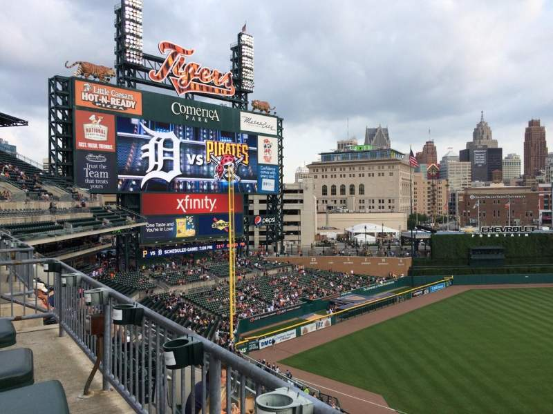 Seating view for Comerica Park Section 337 Row DAC Seat 8