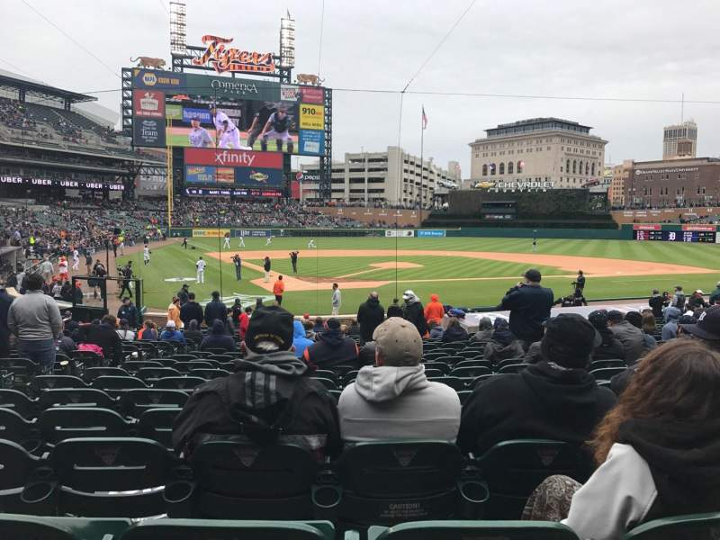 Seating view for Comerica Park Section 126 Row 26 Seat 10