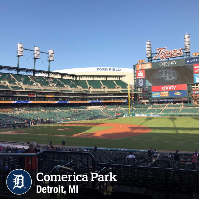 Seating view for Comerica Park Section 117c Row C Seat 3