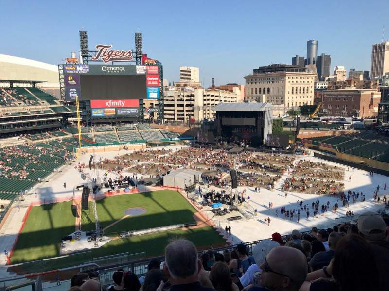 Seating view for Comerica Park Section 323 Row 12 Seat 24