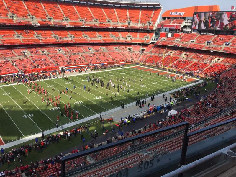 Seating view for FirstEnergy Stadium Section 504 Row 2 Seat 24